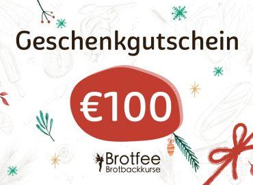 Brotfee Geschenkgutschein 100 Euro