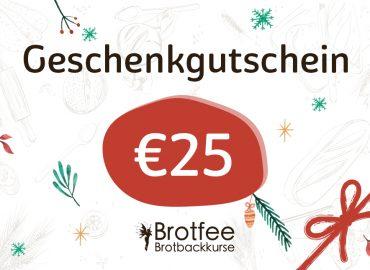 Brotfee Geschenkgutschein 25 Euro