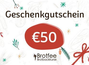 Brotfee Geschenkgutschein 50 Euro